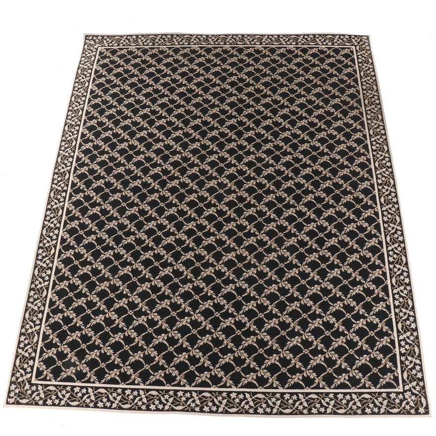 9'1 x 11'7 Machine Made Floral Area Rug