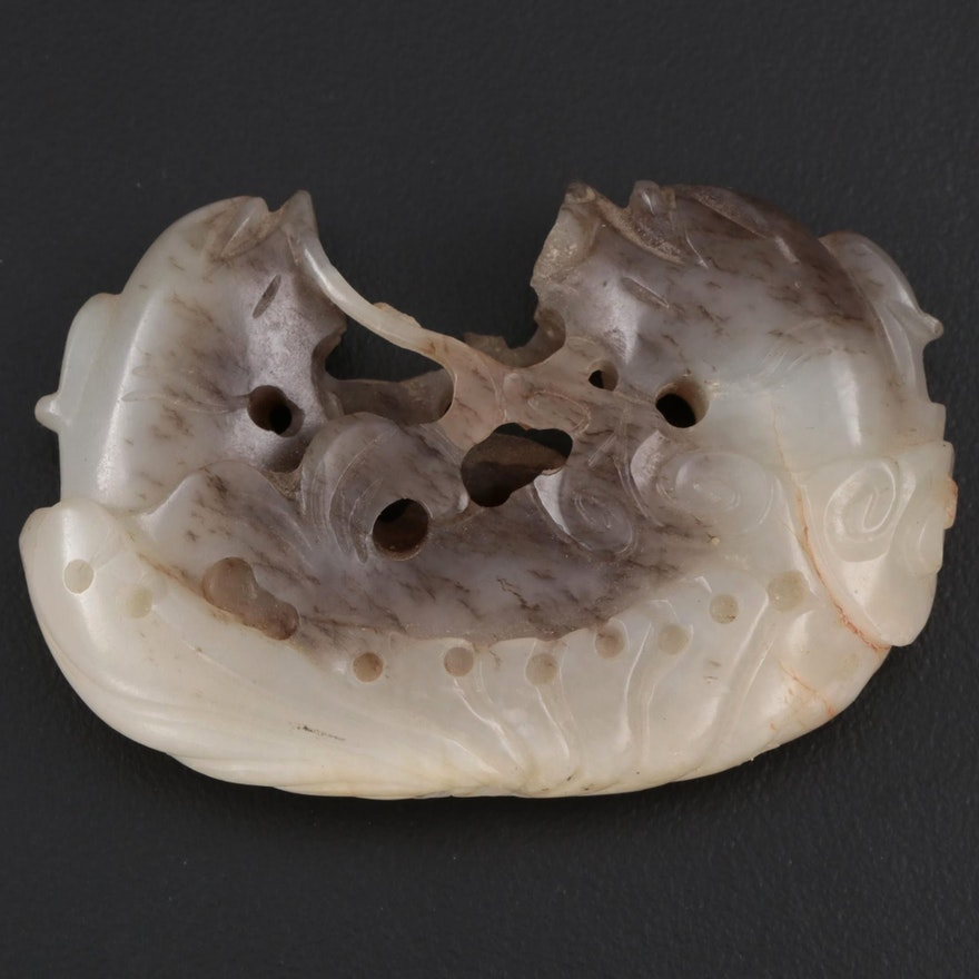 Chinese Nephrite Fish Carving