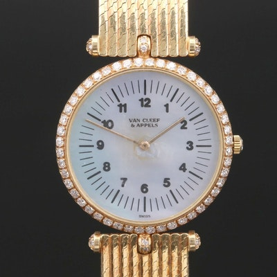 Van Cleef & Arpels, Pierre 18K Gold and 1.44 CTW Diamond Stem Wind Wristwatch