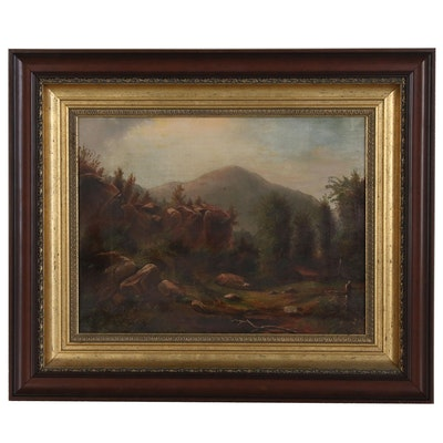Continental Landscape Oil Painting