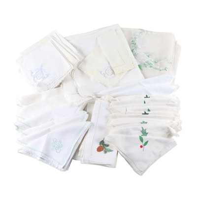 Winter Seasonal and Other Cloth Napkins and Tablecloths