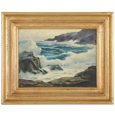 Don Donaldson Seascape Oil Painting, Mid 20th Century