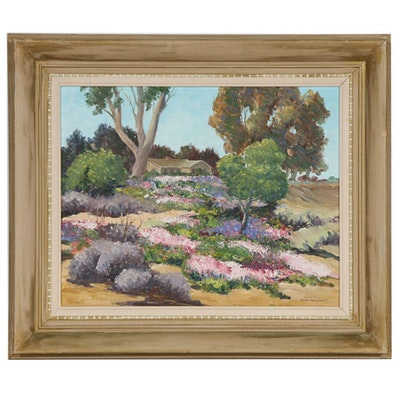"Lynn Winans Oil Painting ""Spring"", Mid 20th Century"