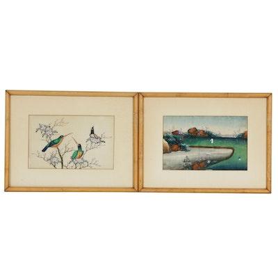 East Asian Gouache Paintings