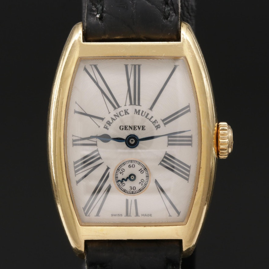 Frank Muller Curvex 18K Gold Stem Wind Wristwatch
