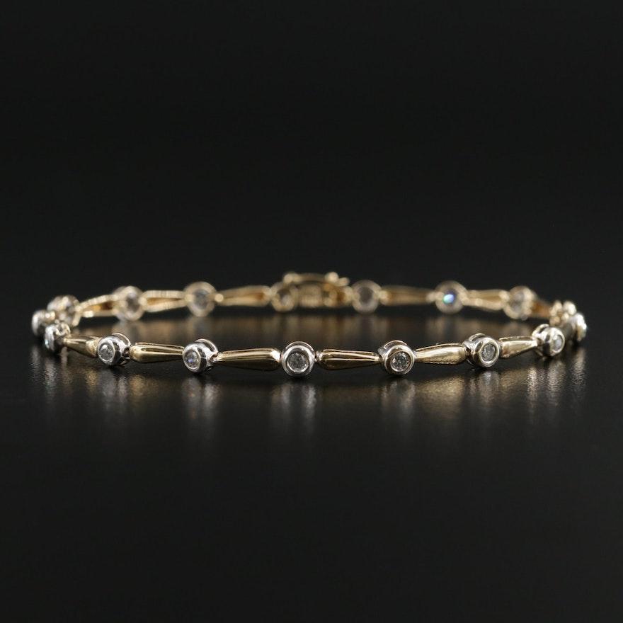 10K Gold Diamond Bracelet