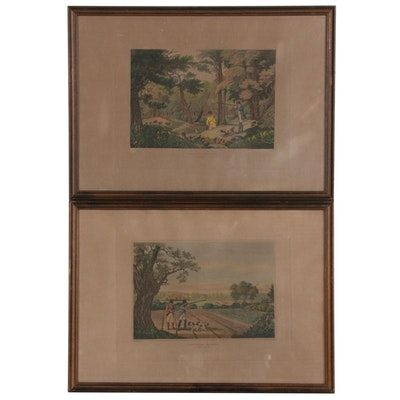 Hand-Colored Etchings with Aquatint after Robert Havell Jr.
