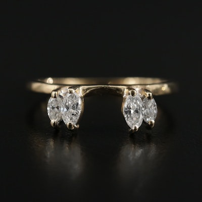 14K Gold Diamond Wrap Ring