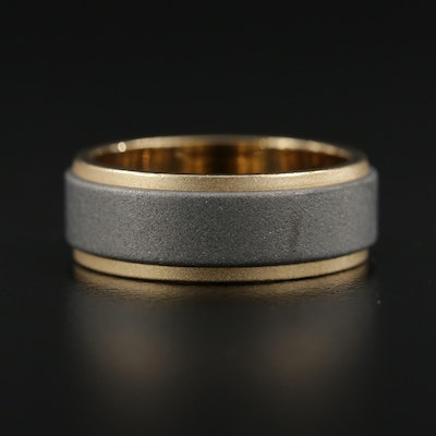 18K Gold and Tungsten Band
