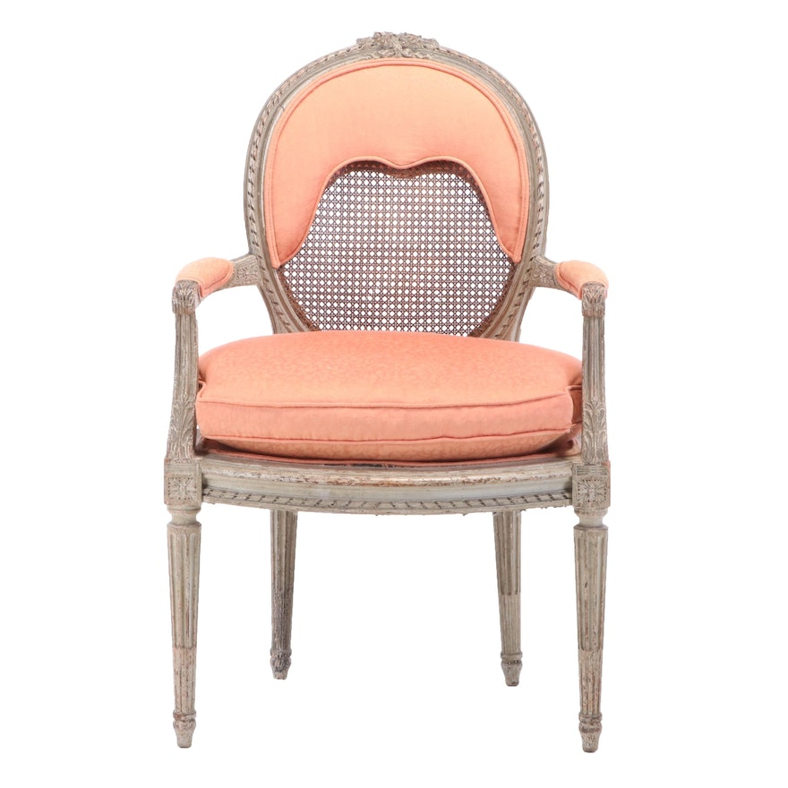Bedel & Cie Louis XVI Style Painted Beech Fauteuil, Late 19th/Early 20th Century