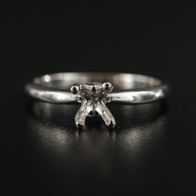 14K Gold Semi-Mount Ring with Diamond Accents