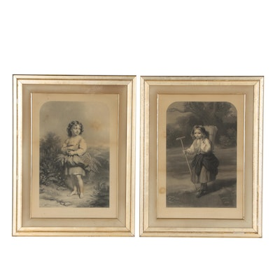 Pair of Engravings after E.U. Eddis and John Lucas, Late 19th Early 20th Century