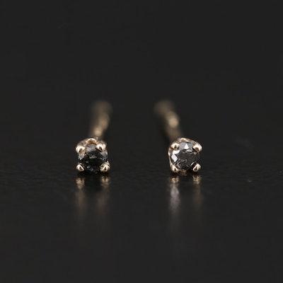 14K Yellow Gold 0.04 CTW Diamond Stud Earrings