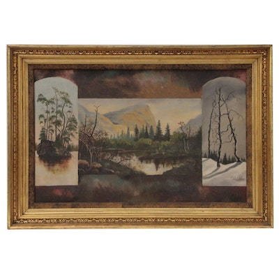 Oil Painting in the Style of Hudson River Valley School