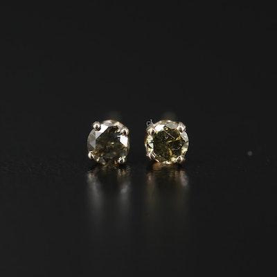 14K Yellow Gold 0.23 CTW Diamond Stud Earrings