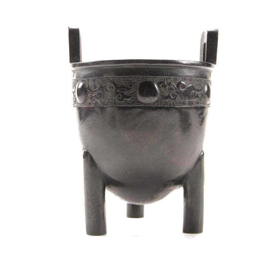 Japanese Patinated Bronze Censer, Meiji Period
