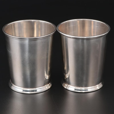 Fisher Sterling Silver Mint Julep Cups, Mid to Late 20th Century