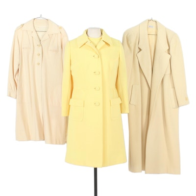 Hurwitz-Couture Two-Piece Dress Set and Other Coats, Mid to Late 20th Century