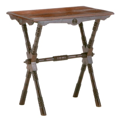Victorian Eastlake Cherry Side Table, Late 19th Century