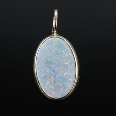 Opal Doublet Pendant With 14K Yellow Gold Bail