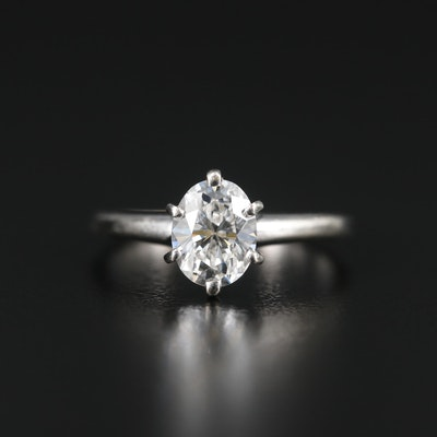 14K Gold 1.15 CT Diamond Solitaire Ring