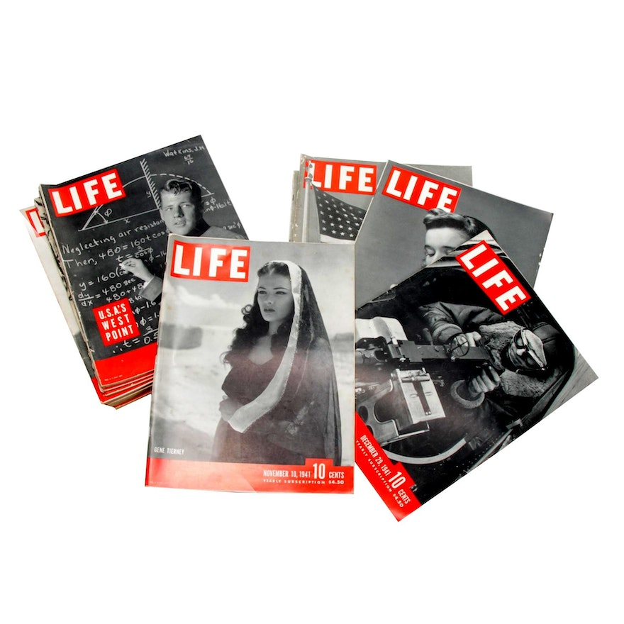 Life Magazines, 1941 and 1942