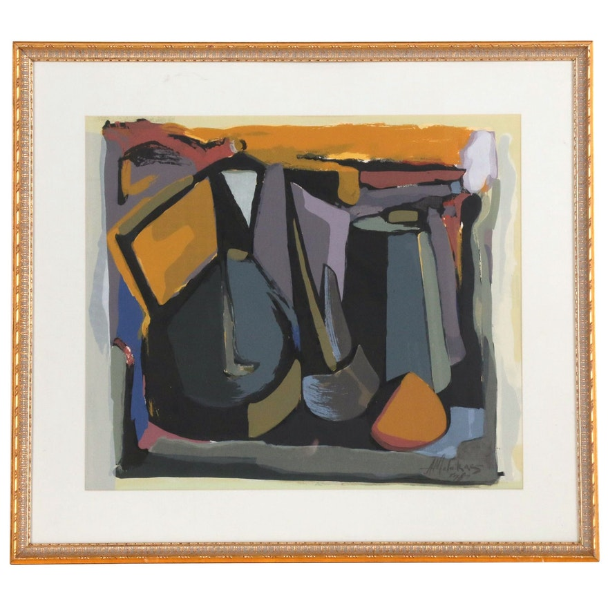 Abstract Serigraph Still Life Composition