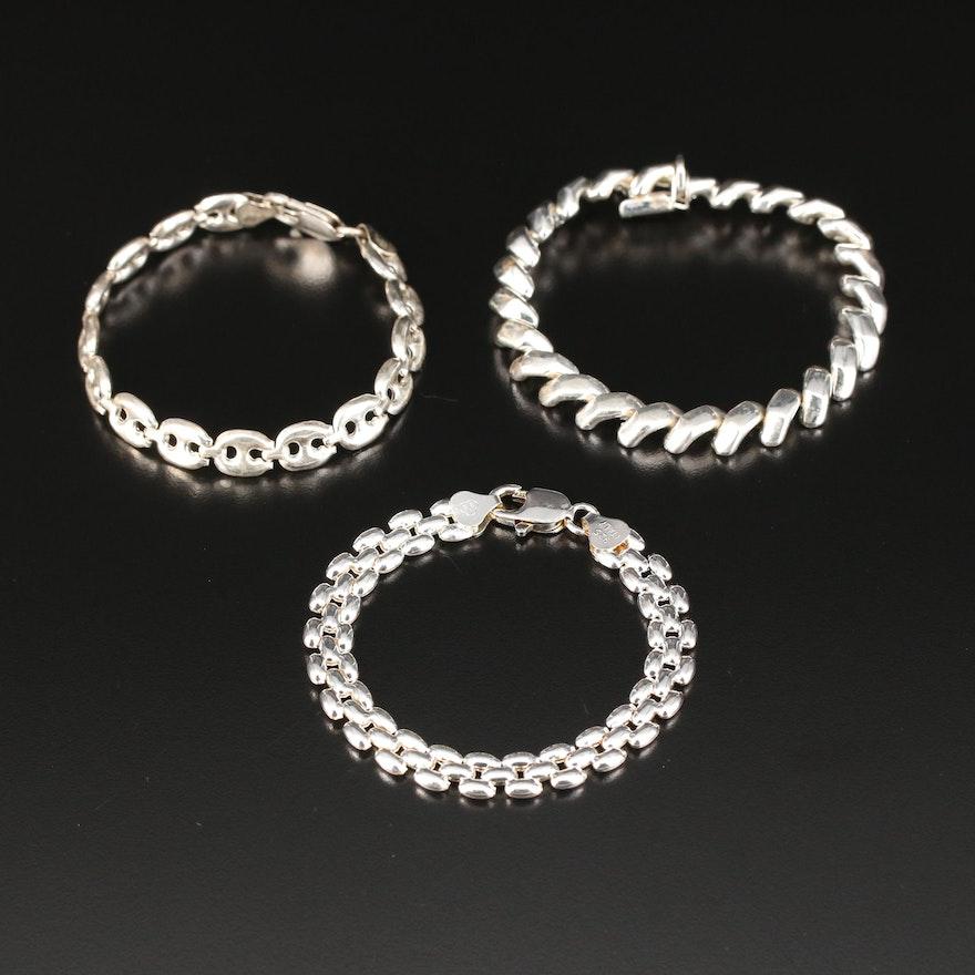 Sterling Silver Link Bracelets