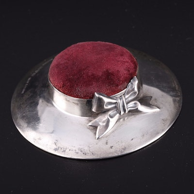 S. Blanckensee & Son of Chester, England, Sterling Silver Pin Cushion, 1908