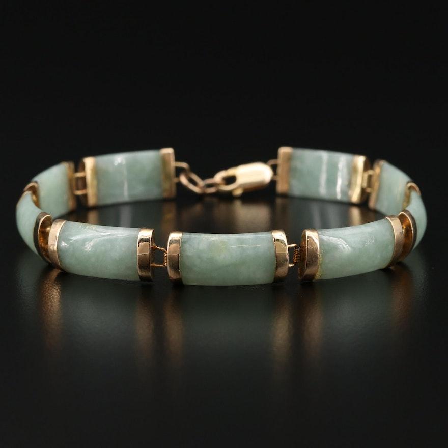 14K Jadeite Bracelet