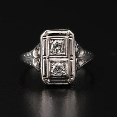 Art Deco 18K Diamond Ring