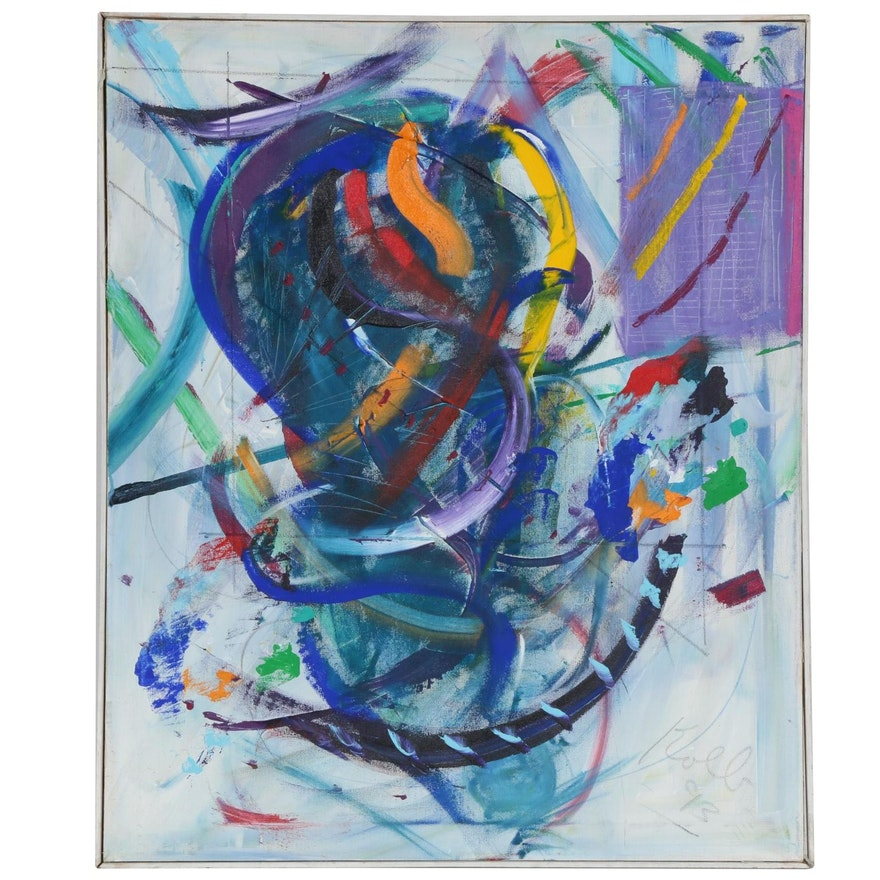 Neo Expressionist Abstract Acrylic Painting