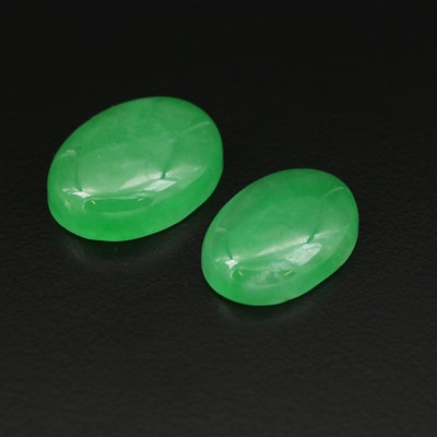 Loose 33.20 CTW Oval Jadeite Cabochons