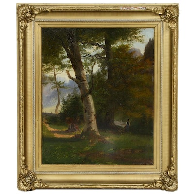 Landscape with Figure Oil Painting