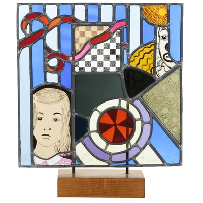 Stained Glass Panel Table Sculpture