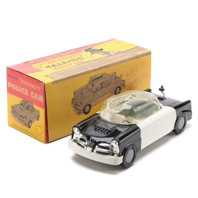 "Ideal Jack Webb ""Dragnet"" Talking Police Car in Original Packaging, 1955"