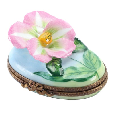 "Rochard Hand-Painted ""Posy"" Limoges Box, 1969-Present"