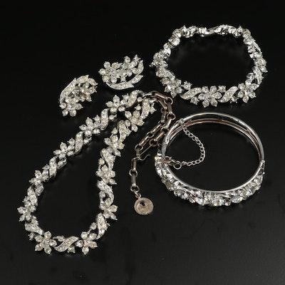 Vintage Lisner Rhinestone Jewelry