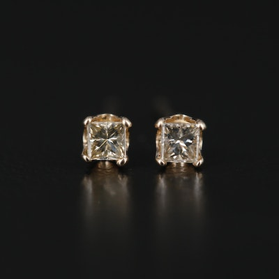 14K Yellow Gold 0.17 CTW Diamond Stud Earrings