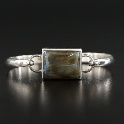 Sterling Silver Labradorite Bangle Bracelet