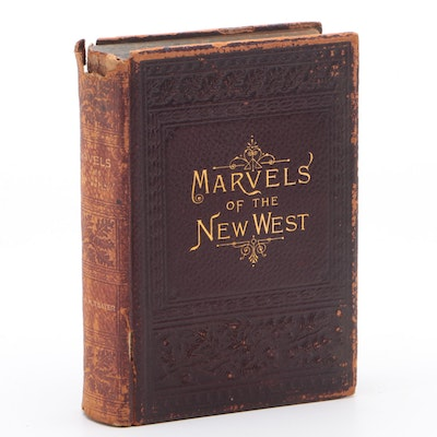 "1890 First Edition ""Marvels of the New West"" by William M. Thayer, Leather Bound"