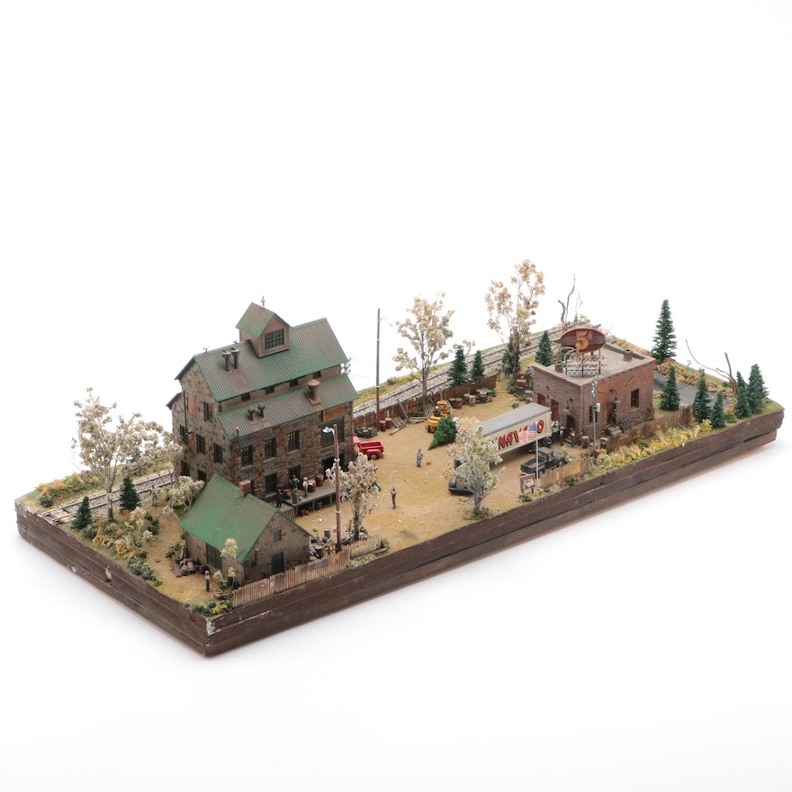 Handcrafted American Structures For Model Train Displays