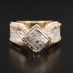 14K Yellow Gold 1.29 CTW Diamond Ring