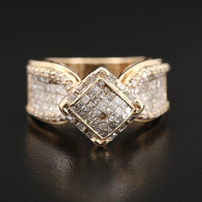 14K Yellow Gold 1.29 CTW Diamond Ring
