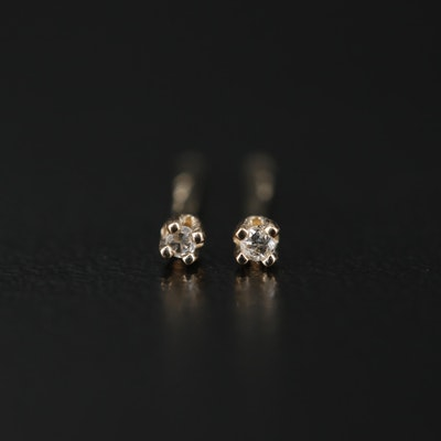 14K 0.01 CTW Diamond Stud Earrings