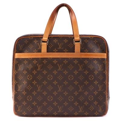 Louis Vuitton Porte Documents Pegase Monogram Canvas and Vachetta Leather
