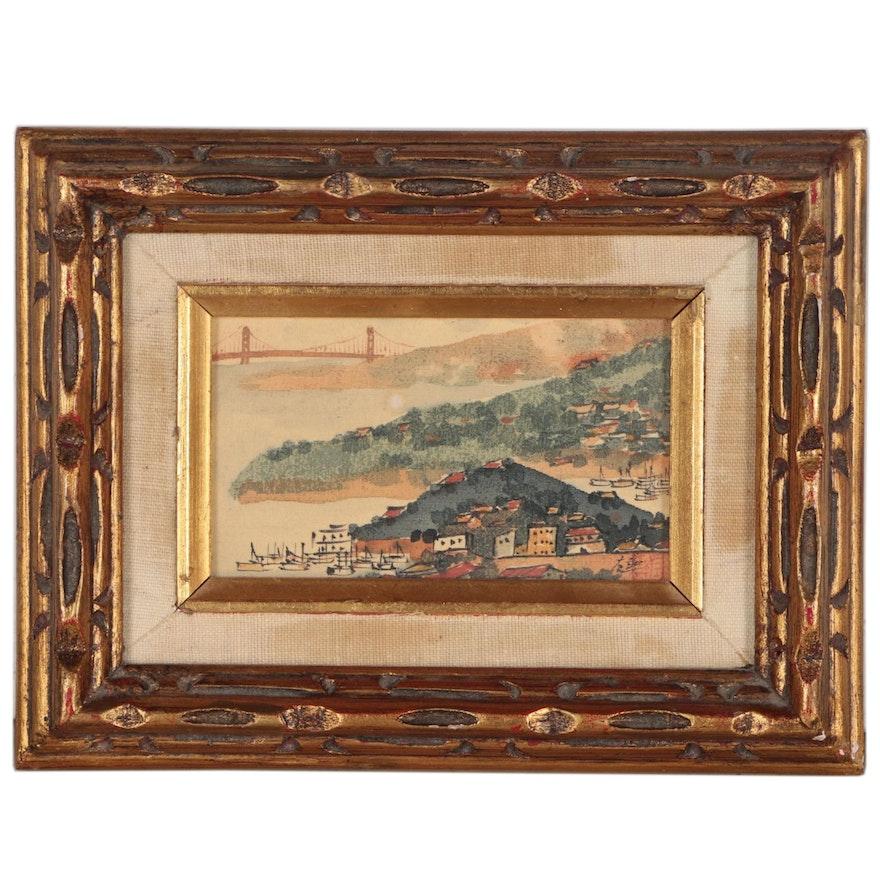 James Yeh-Jau Liu Watercolor Landscape Painting