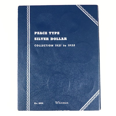 Whitman Binder of Peace Silver Dollars, 1921 to 1927