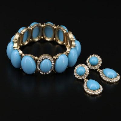 Rhinestone Bracelet and Earrings