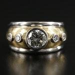 18K Two-Tone Gold 1.01 CTW Diamond Ring